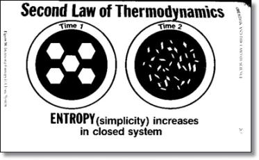 A teoria da evolução contradiz as leis da termodinâmica?!