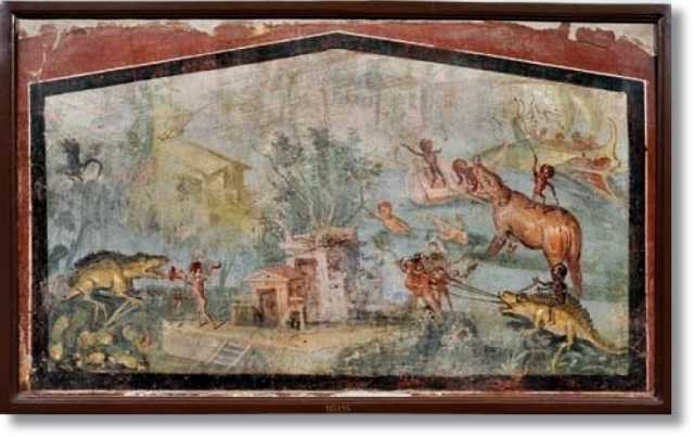 Dinossauro_Mosaico_Pompeia